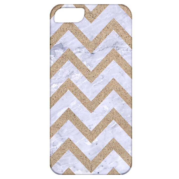 CHEVRON9 WHITE MARBLE & SAND (R) Apple iPhone 5 Classic Hardshell Case