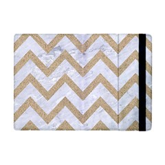 Chevron9 White Marble & Sand (r) Apple Ipad Mini Flip Case