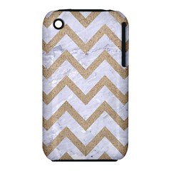 Chevron9 White Marble & Sand (r) Iphone 3s/3gs