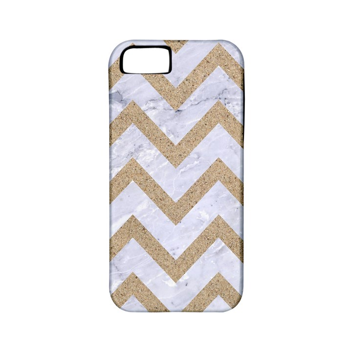 CHEVRON9 WHITE MARBLE & SAND (R) Apple iPhone 5 Classic Hardshell Case (PC+Silicone)
