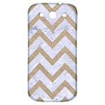 CHEVRON9 WHITE MARBLE & SAND (R) Samsung Galaxy S3 S III Classic Hardshell Back Case Front