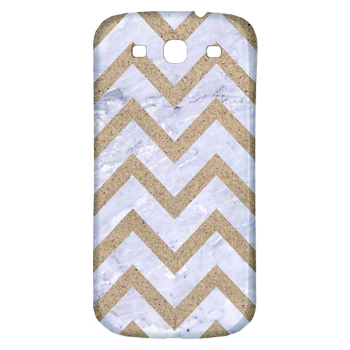 CHEVRON9 WHITE MARBLE & SAND (R) Samsung Galaxy S3 S III Classic Hardshell Back Case