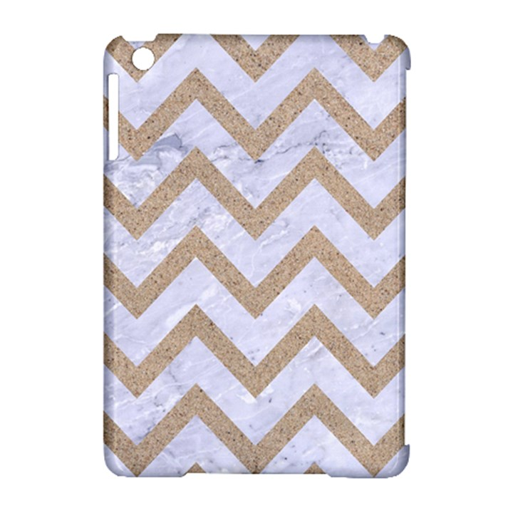 CHEVRON9 WHITE MARBLE & SAND (R) Apple iPad Mini Hardshell Case (Compatible with Smart Cover)