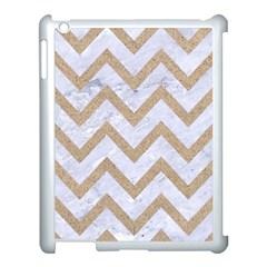 Chevron9 White Marble & Sand (r) Apple Ipad 3/4 Case (white)