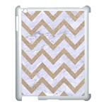 CHEVRON9 WHITE MARBLE & SAND (R) Apple iPad 3/4 Case (White) Front