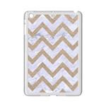 CHEVRON9 WHITE MARBLE & SAND (R) iPad Mini 2 Enamel Coated Cases Front