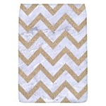 CHEVRON9 WHITE MARBLE & SAND (R) Flap Covers (L)  Front