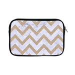 CHEVRON9 WHITE MARBLE & SAND (R) Apple iPad Mini Zipper Cases Front