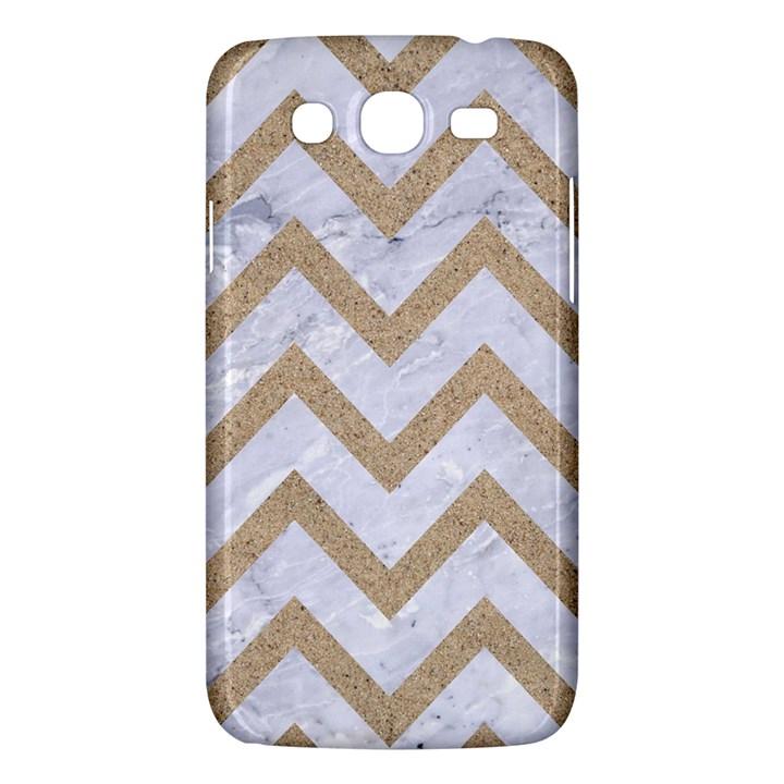 CHEVRON9 WHITE MARBLE & SAND (R) Samsung Galaxy Mega 5.8 I9152 Hardshell Case