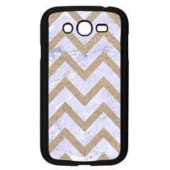 Chevron9 White Marble & Sand (r) Samsung Galaxy Grand Duos I9082 Case (black)