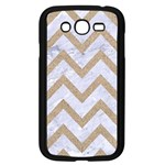 CHEVRON9 WHITE MARBLE & SAND (R) Samsung Galaxy Grand DUOS I9082 Case (Black) Front