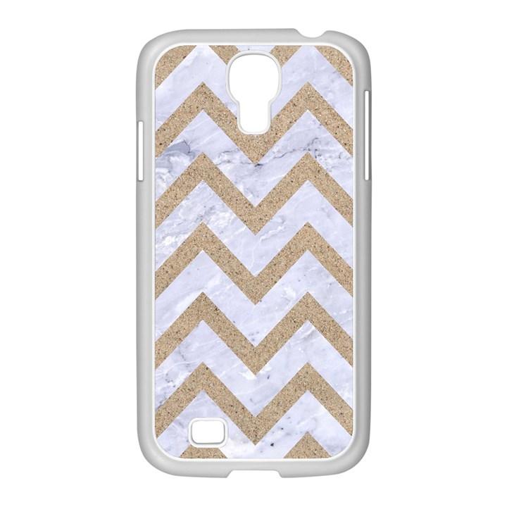 CHEVRON9 WHITE MARBLE & SAND (R) Samsung GALAXY S4 I9500/ I9505 Case (White)
