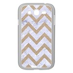 CHEVRON9 WHITE MARBLE & SAND (R) Samsung Galaxy Grand DUOS I9082 Case (White) Front