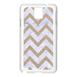 CHEVRON9 WHITE MARBLE & SAND (R) Samsung Galaxy Note 3 N9005 Case (White) Front