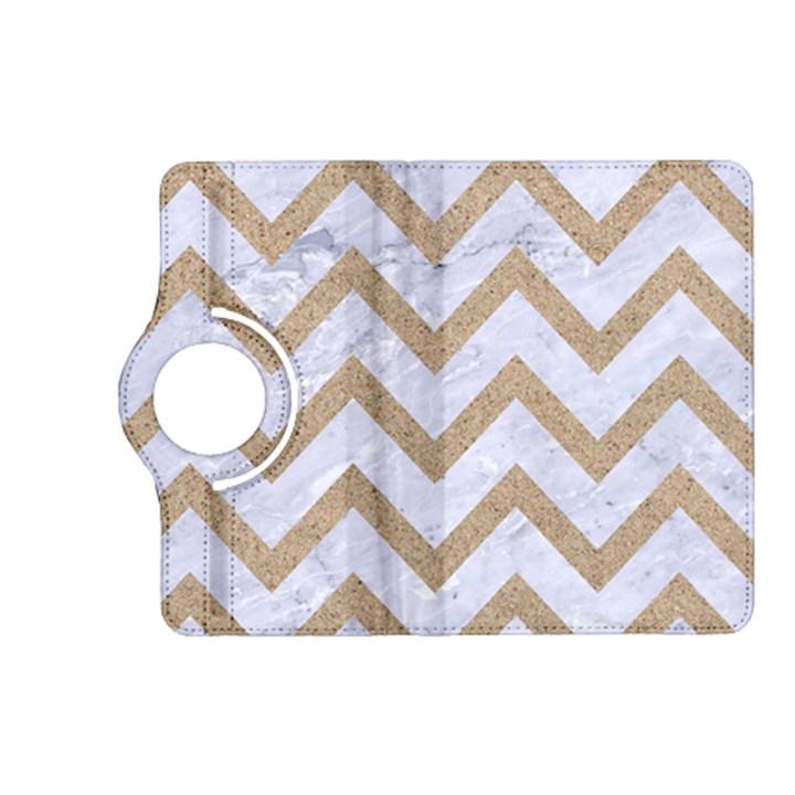 CHEVRON9 WHITE MARBLE & SAND (R) Kindle Fire HD (2013) Flip 360 Case