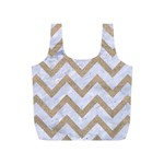 CHEVRON9 WHITE MARBLE & SAND (R) Full Print Recycle Bags (S)  Front