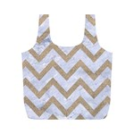 CHEVRON9 WHITE MARBLE & SAND (R) Full Print Recycle Bags (M)  Front