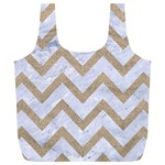 CHEVRON9 WHITE MARBLE & SAND (R) Full Print Recycle Bags (L)  Front