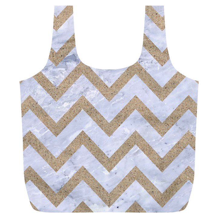 CHEVRON9 WHITE MARBLE & SAND (R) Full Print Recycle Bags (L)