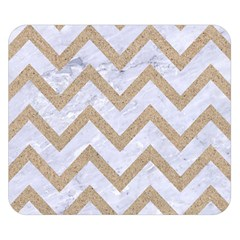Chevron9 White Marble & Sand (r) Double Sided Flano Blanket (small)
