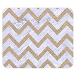 CHEVRON9 WHITE MARBLE & SAND (R) Double Sided Flano Blanket (Small)  50 x40 Blanket Back