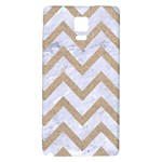 CHEVRON9 WHITE MARBLE & SAND (R) Galaxy Note 4 Back Case Front