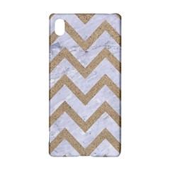 Chevron9 White Marble & Sand (r) Sony Xperia Z3+