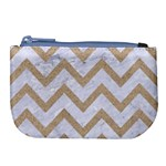CHEVRON9 WHITE MARBLE & SAND (R) Large Coin Purse Front