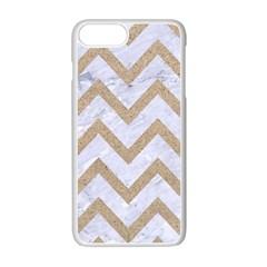 Chevron9 White Marble & Sand (r) Apple Iphone 7 Plus Seamless Case (white)