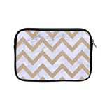 CHEVRON9 WHITE MARBLE & SAND (R) Apple MacBook Pro 15  Zipper Case Front