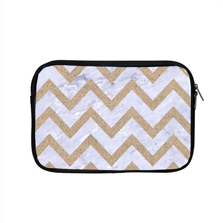 CHEVRON9 WHITE MARBLE & SAND (R) Apple MacBook Pro 15  Zipper Case