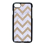 CHEVRON9 WHITE MARBLE & SAND (R) Apple iPhone 8 Seamless Case (Black) Front