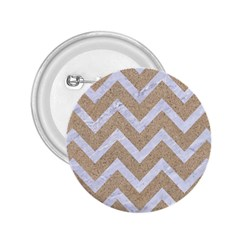 Chevron9 White Marble & Sand 2 25  Buttons