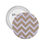 CHEVRON9 WHITE MARBLE & SAND 2.25  Buttons Front