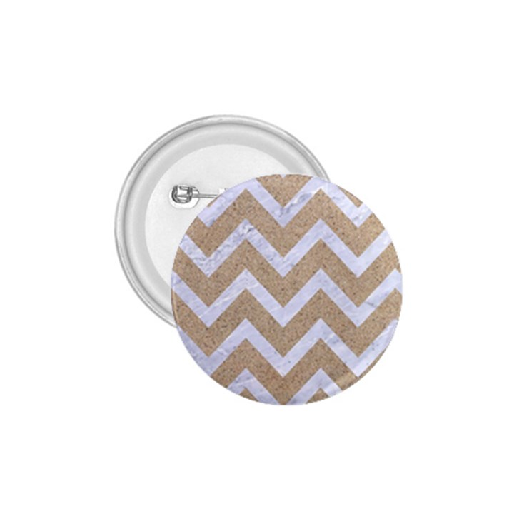 CHEVRON9 WHITE MARBLE & SAND 1.75  Buttons