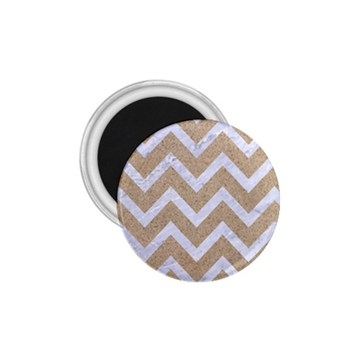 CHEVRON9 WHITE MARBLE & SAND 1.75  Magnets