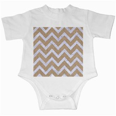 Chevron9 White Marble & Sand Infant Creepers