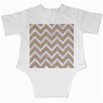 CHEVRON9 WHITE MARBLE & SAND Infant Creepers Back