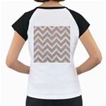 CHEVRON9 WHITE MARBLE & SAND Women s Cap Sleeve T Back