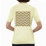 CHEVRON9 WHITE MARBLE & SAND Women s Yellow T-Shirt Back