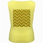 CHEVRON9 WHITE MARBLE & SAND Women s Yellow Tank Top Back