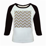 CHEVRON9 WHITE MARBLE & SAND Kids Baseball Jerseys Front