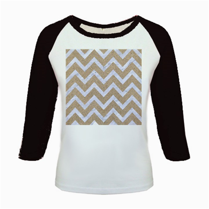 CHEVRON9 WHITE MARBLE & SAND Kids Baseball Jerseys
