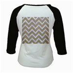 CHEVRON9 WHITE MARBLE & SAND Kids Baseball Jerseys Back