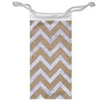 CHEVRON9 WHITE MARBLE & SAND Jewelry Bag Front