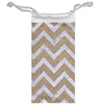 CHEVRON9 WHITE MARBLE & SAND Jewelry Bag Back