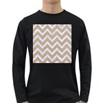 CHEVRON9 WHITE MARBLE & SAND Long Sleeve Dark T-Shirts Front