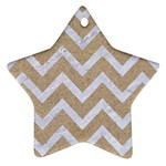 CHEVRON9 WHITE MARBLE & SAND Star Ornament (Two Sides) Back
