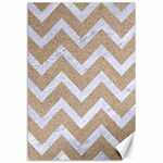 CHEVRON9 WHITE MARBLE & SAND Canvas 12  x 18   18 x12 Canvas - 1