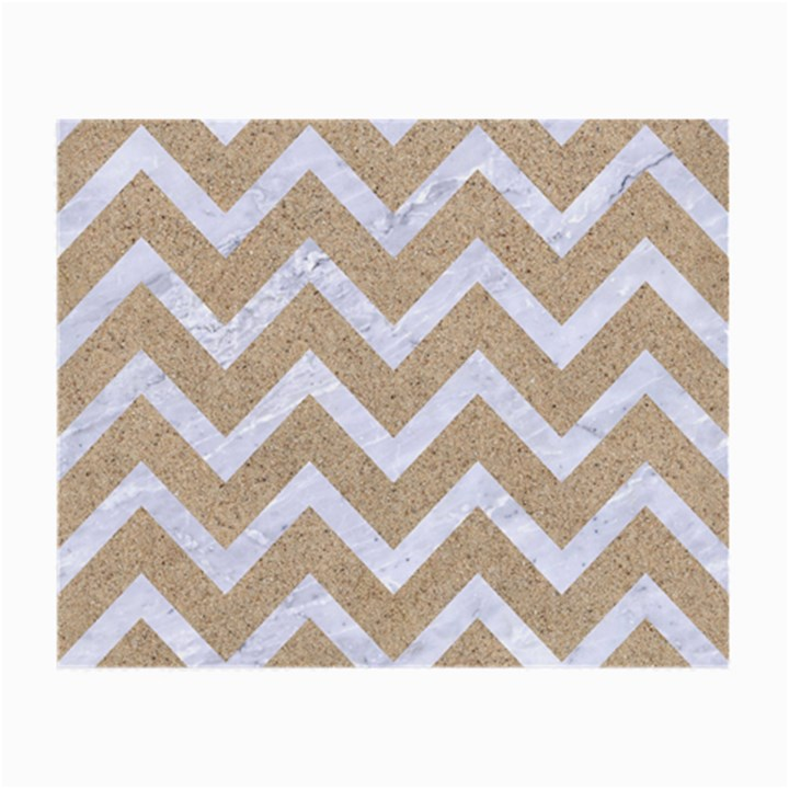 CHEVRON9 WHITE MARBLE & SAND Small Glasses Cloth (2-Side)